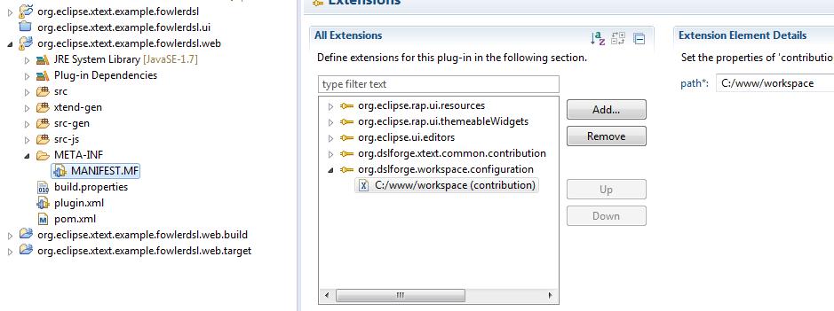 Workspace Configuration