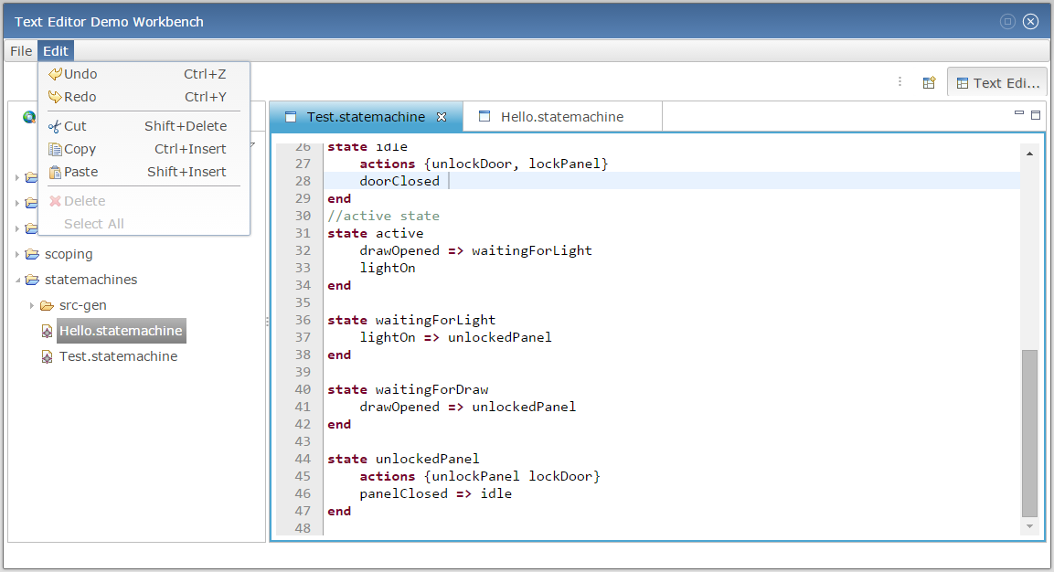 Generate Web Editor from Xtext – DSL Forge